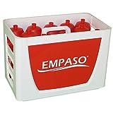 EMPASO TeamKiste (WR) - 12er Fußball Trinkflaschen Set mit Flaschennummern 1-12.