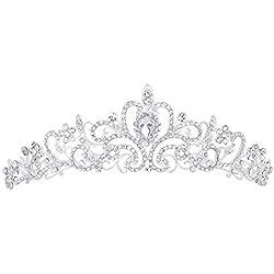 Corona para boda en tono plateado