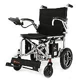 Sillas de ruedas eléctrica automática Inteligente para Personas Mayores minusválidos (Color : Black)