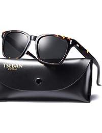 2574cb147e49 TSEBAN Retro Polarised Mens Womens Sunglasses for Driving Fishing Golf  Outdoor Travel UV 400 Protection Sun