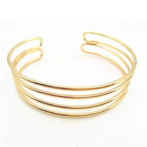 uff Bangles For Women Brand Big Bohemia Boho Fashion Bangles Indian Girls Bracelets & Bangles Female Cute Ladies Jewelry Gold4 ()