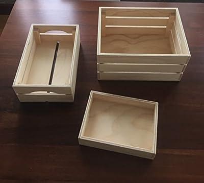 SETPINO. Conjunto 3 cajas de madera. Diseño y orden para almacenaje
