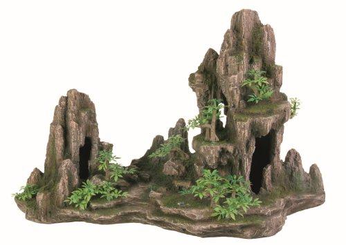 Trixie 8855 Felsformation mit Höhle/Pflanzen, 45 cm
