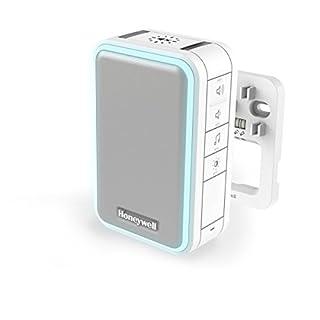 Honeywell Verdrahteter Gong mit Lichtring, LED-Blitzlicht, Schlaf-/ Stummodus, Lautstärkeregelung – Weiß DW315S