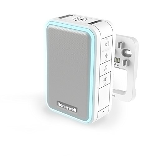 Honeywell Verdrahteter Gong mit Lichtring, LED-Blitzlicht, Schlaf-/Stummodus, Lautstärkeregelung – Weiß DW315S