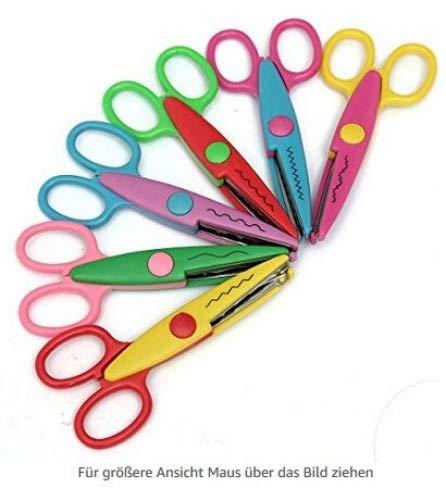 Unicoco Juego 6 tijeras papel decorativas profesores