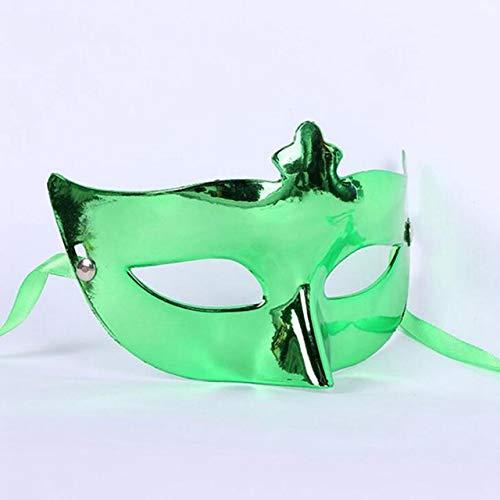 TWELVEMJ Männer Frauen Maskerade Kostüm Venezianische Partei Schwarz Maskerade Maske Bösewicht Augenmaske Partei liefert, GRÜN