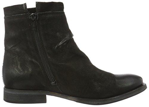 Mentor Damen Ankle Boot Kurzschaft Stiefel Schwarz (Black)