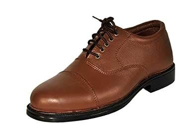 SSF Men's Brown Leather Formal Shoes (SSF1038BR-10)
