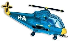 "Helicopter Balloon 26"" Foil Balloon - Blue"