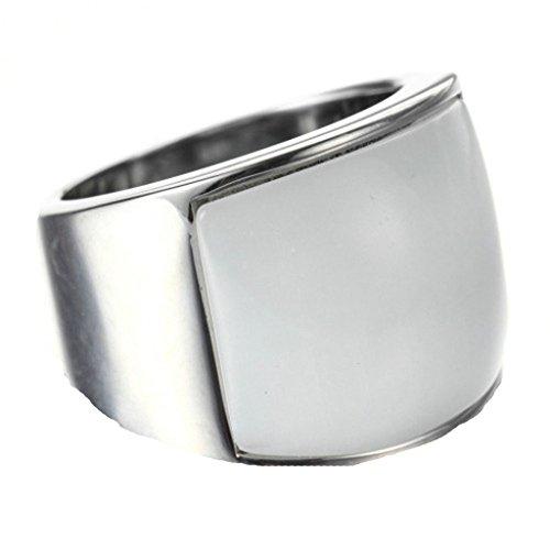 AnazoZ Damen Ring Edelstahl Hochzeit Ring für Paar Verlobungsring Silber Weiss Bandringe für Frauen 57 - Womens Löwen Kostüm