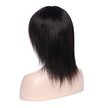 Natural Black Virgin Indian Human Hair Wig Silk Top Base Full Lacelace Wigs With Baby Hair Real Curly Wavy Bob Remy Hot Glueless Long Thick Wig 3