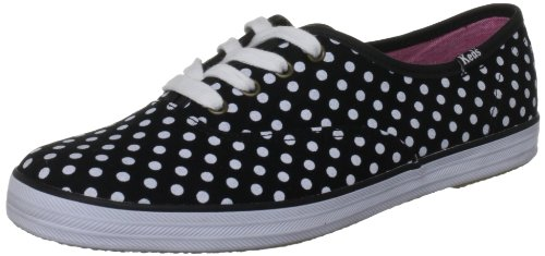 Keds Champion CVO Dots WF46402, Sneaker donna, Nero (Schwarz (black/white normal)), 40.5