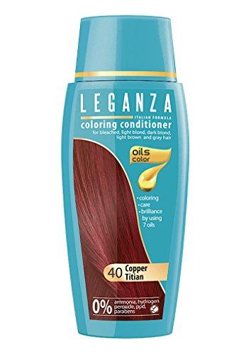 Leganza Färbender Conditioner Farbe 40 rötlichen Kupfer Mit 7 natürlichen Ölen Ammoniak und Paraben frei