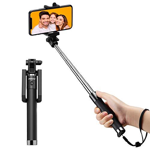 Mpow Bastone Selfie Bluetooth Leggero monopiede allungabile da 319 Pollici con Telecomando Bluetooth Compatibile per iPhone 11/11 PRO/11 PRO Max/XS