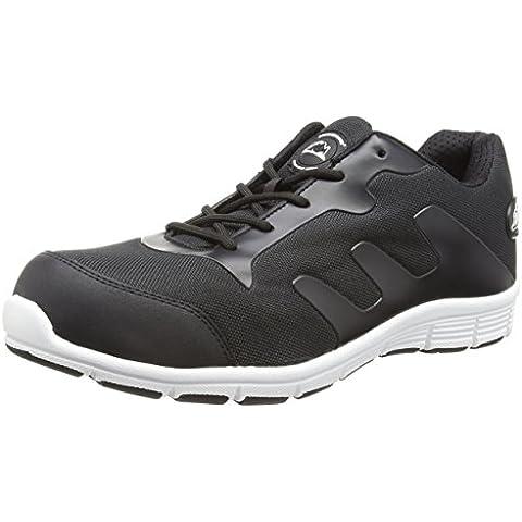Zapatillas para hombre de seguridad tapa de acero de peso ligero de zapatos de cordones estilo de trabajo