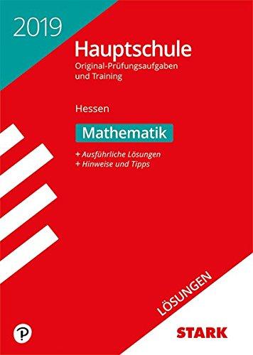 Lösungen zu Original-Prüfungen und Training Hauptschule - Mathematik - Hessen