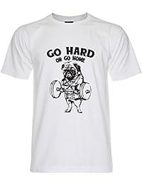 PALLAS Unisex's Bull Dog Gym Go Hard Or Go Home T-Shirt