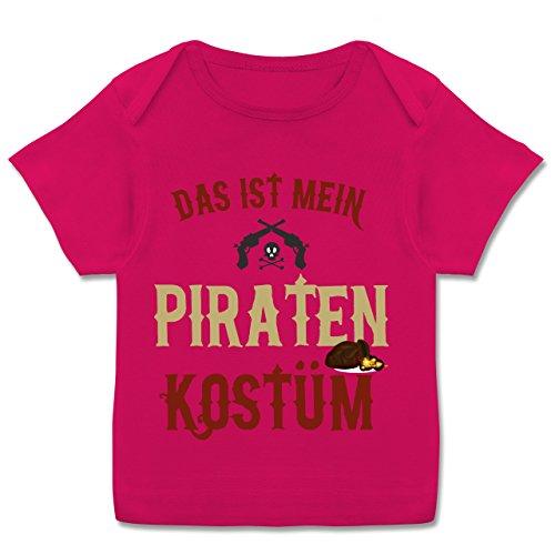 Shirtracer Karneval und Fasching Baby - Das ist Mein Piraten Kostüm - 80-86 (18 Monate) - Fuchsia - E110B - Kurzarm Baby-Shirt für Jungen und Mädchen in Verschiedenen - Piraten-mädchen-shirt