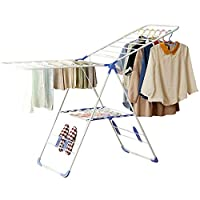TEHWDE Folding Clothes Hanger Drying Rack Shoes Rack Laundry Rack Indoor Outdoor Organizer Multifunctional Coat Stand Rack Laundry Drying Hangers 164 * 61 * 97(cm)