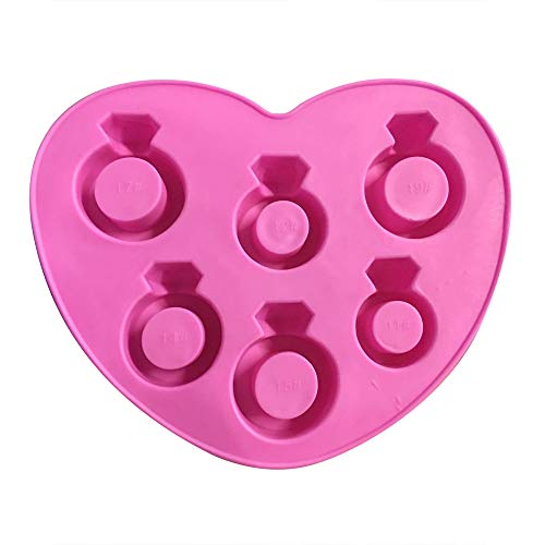 Nncande Diamond Ring Ice Cube Mold Small Diamond Ring Shape Silicone Mold Biscuit Tool Ice Cream Tool, Let You Drink Cold Cold Drink In Hot Summer, Recommended for Coca Cola (PK)