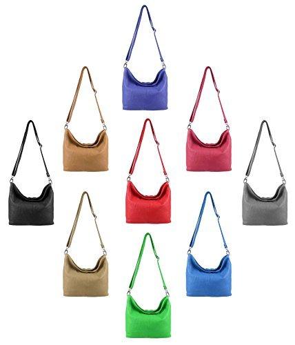 OBC Made in Italy Cuir Véritable Pour Femme Sac Épaule À Bandoulière Messenger Clutch Ipad/Cendrier jusqu'à env. 10 Pouces City Bag env. 36x24x14 cm (LxHxP)