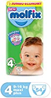 Molfix Anti Leakage Comfortable Maxi Plus Baby Diapers, 9-16 kg, 54 Count