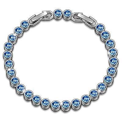 Susan Y Ocean Dream Tennis Bracelet Women Made Swarovski Crystals, Patent Design, Elegant Jewellery Box Every Special Moment