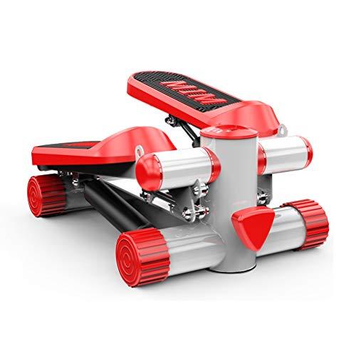 Stepper Heimgewichtsverlustmaschine Leiser Schrittmotor Freie Installation Von Trainingsgeräten Rot Gewicht 120 Kg Hydraulischer Puffer In-Situ-Pedalmaschine (Color : Red, Size : 43 * 33 * 21cm)