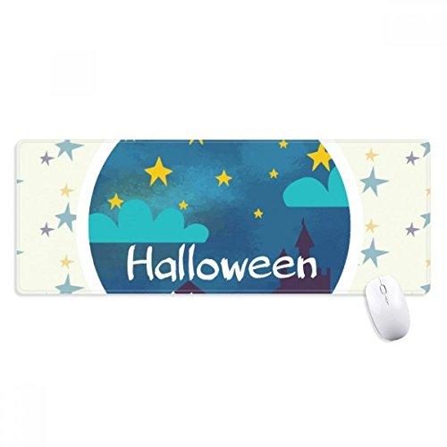 beatChong Der Himmel von Halloween-Nacht Griffige Mousepad Große Erweiterte Spiel Büro titched Kanten Computer-Mat Geschenk