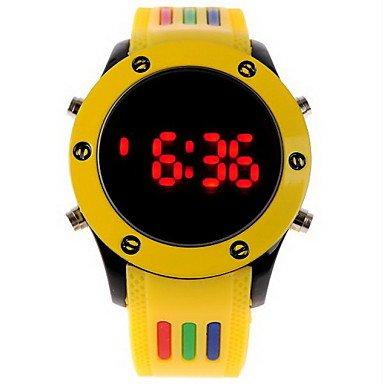 Fenkoo Herren Armbanduhr digital LED Caucho Band Weiß / Blau / Rot / Orange / Grün / Rosa Marke- (Adidas Weiß Herren Uhr)