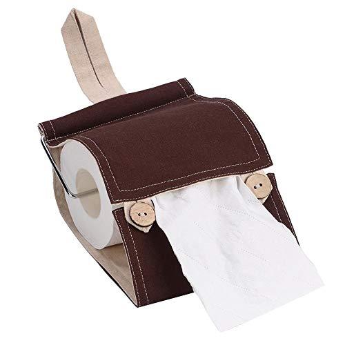 Qinlorgo Taschentücherbehälter, Taschentücherbox aus Reiner Baumwolle für den Haushalt(#2 Roll Paper Holder) -