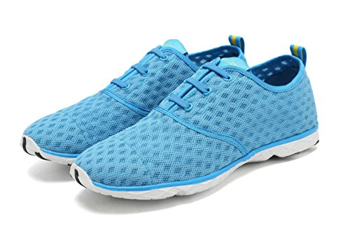 Mesh on Schnell Schuhe Trocknend Blue Slip Wasser Welltree Frauen w1Fqtt