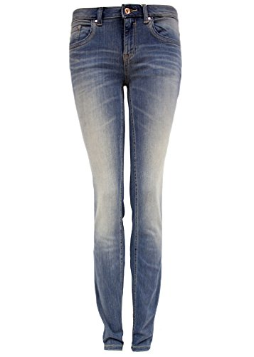 TOM TAILOR Damen Jeanshose Slim Alexa, Blau (Light Stonewash Denim 1051), W28/L32 (Herstellergröße: 28) (Light Wash Frauen)