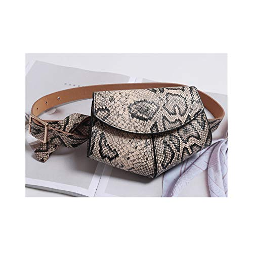 Gürteltasche, Hüfttasche, Serpentine Ladies PU Leather Waist Belt Bag Women Mini Disco Waist Pack Luxury Handbags Women Bag Designer Chest Bag Gold