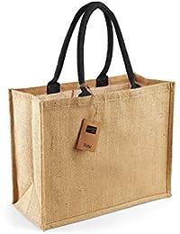 Westford Mill Klassische Jute Einkaufstasche (21 Liter)