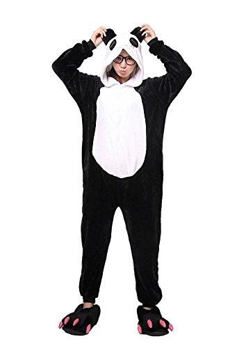 Schwein Halloween Kostüm Tragen (Tier Schlafanzug Damen Herren Cartoon Fasching Pyjama Fleece Overall Onesie Jumpsuit mit Reißverschluss Halloween Kostüm Erwachsene Karneval Cosplay -)