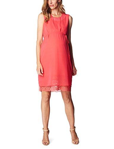 ESPRIT Maternity Damen Umstandskleid R84290, Knielang, Einfarbig, Gr. 44, Rot (festive Red 583)