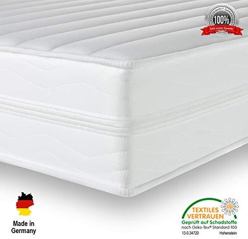 Träume-Nacht AquaFlex® 16cm Wellness Kaltschaummatratze - 7-Zonen Matratze - Härtegrad H2 & H3 - ÖkoTex Rollmatratze (140 x 200 cm, H2 & H3)