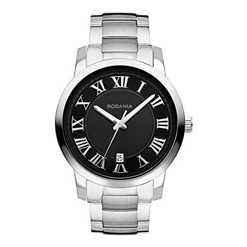 RODANIA CAPITOL Men's 40mm Silver Steel Bracelet & Case Quartz Watch 26055-48