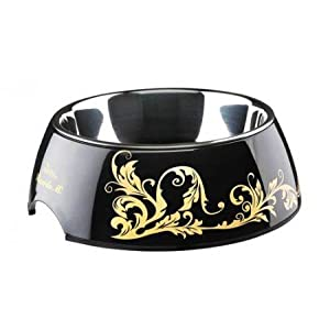 HUNTER Ricarda M Melamine Bowl, 700 ml, Black/Gold