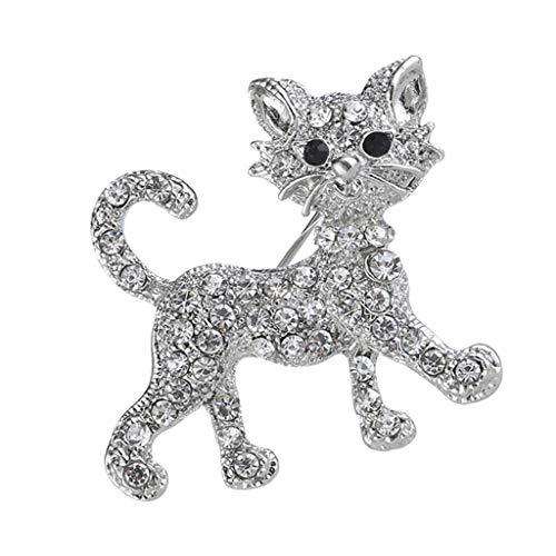 IPOTCH Katze Form Brosche Pins Dekoration für Kleidung, Schuhe, Tasche, Mütze, Schal, Halstuch,...