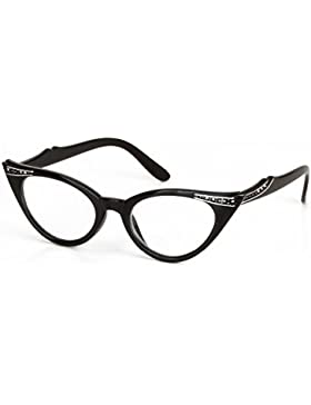 Cat Eye Occhiali Moda Vintage Clear Lenti Occhiali da Lettura Stile Skitic Fashion Reading Glasses Retro Eyeglasses...