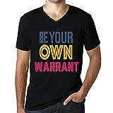 Photo de Homme T Shirt Graphique Imprimé Vintage Col V Tee Be Your Own Warrant Noir Profond par One in the City
