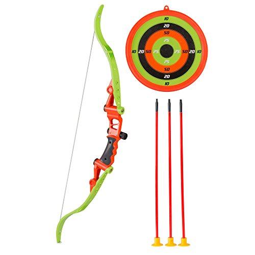 Kinder Pfeil und Bogen-Set mit 41cm-Pfeil und 70cm-Bogen 23cm-Zielscheibe für Fasching, Robin Hood, - Kostüm Pfeil Und Bogen Set