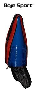 agility sport pour chiens - lot de 20 plots de délimitation 23 cm, couleur: bleu, contient également: un sac pratique - 20x MK23b