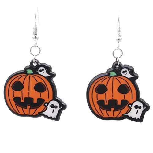 Tropfen Ohrringe Damen-Ohrringe Schädel-Ohrringe Ohrring für Halloween Party Prom Style Schmuck (Colorado Halloween Kostüme Festival)