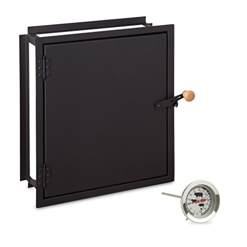 Räucherkammer Tür mit Einbaurahmen