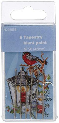 TSL Tapisserie Aiguilles Blunt Point, Argent, 43 mm, Lot de 6