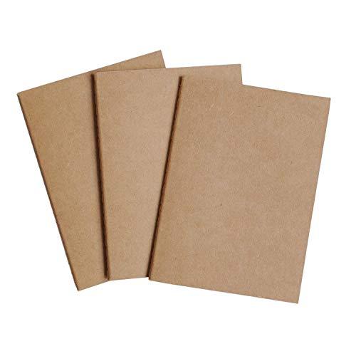 Reise Taschennotizbuch Nachfüllblätter -Blanko Papier - 3er Set | Reisepass Journalgröße | für kleine auffüllbare Reisejournale, Tagebücher und Notizbücher | Travel Journal Inserts | 12,5 x 9 cm B7 (Kleines Journal Notebook)